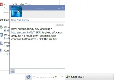 virus pe Facebook